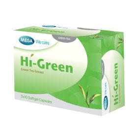 Mega We Care HI-GREEN เมก้า วีแคร์ ไฮ กรีน 30 แคปซูล