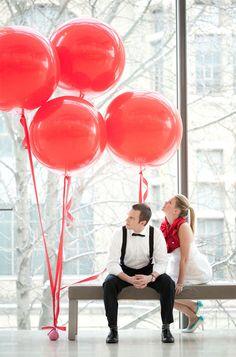 """ลูกโป่งกลมจัมโบ้ไซส์ใหญ่ 36""""Latex Balloon RB Red 3FT สีแดง/ Item No. TQ-42554 แบรนด์ Qualatex"""