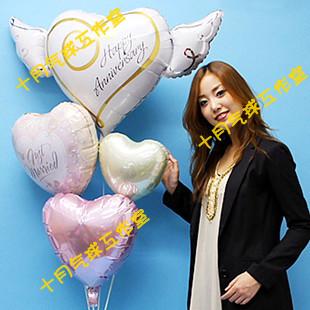 ลูกโป่งฟลอย์นำเข้า Anniversary Heart with Wings / Item No. AG-21975 แบรนด์ Anagram ของแท้