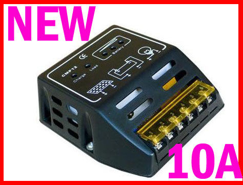 SCC004: โซล่าชาร์จเจอร์ Solar Panel Charger Controller Regulator 10A 12V/24V