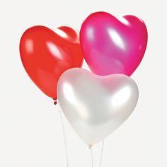 ลูกโป่งหัวใจเนื้อเมททัลลิก สีชมพูเข้ม ไซส์ 12 นิ้ว แพ็คละ 10 ใบ (Heart Shape Balloon-Metallic Deep Pink Color)