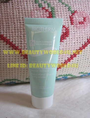 ขายส่ง Biotherm biosource NORMAL- COMBINATION SKIN cleanser toning mousse 20 ml. x 5 หลอด