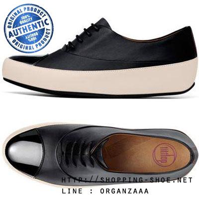 Fitflop Uno Oxford Lace up Black and White ของแท้ นำเข้าจาก USA และ UK (มีกล่อง)
