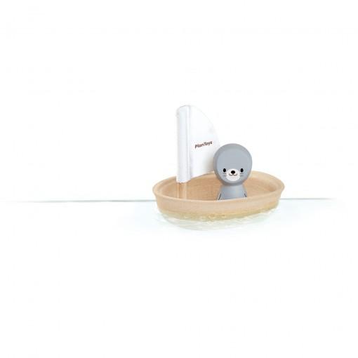 ของเล่นไม้ ของเล่นเด็ก ของเล่นเสริมพัฒนาการ Sailing Boat Seal เรือใบแมวน้ำ (ส่งฟรี)