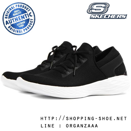 US6 : Skechers You Inspire Trainers - Black / White ของแท้ นำเข้าจาก USA และ UK