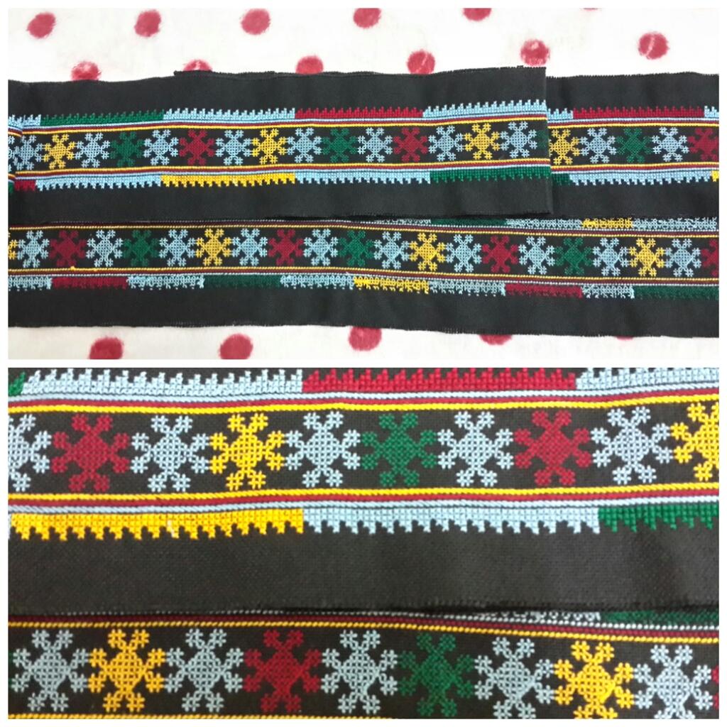 ผ้าปักผืนยาวเส้นเล็ก ปักลายโบราณ+ประยุกต์