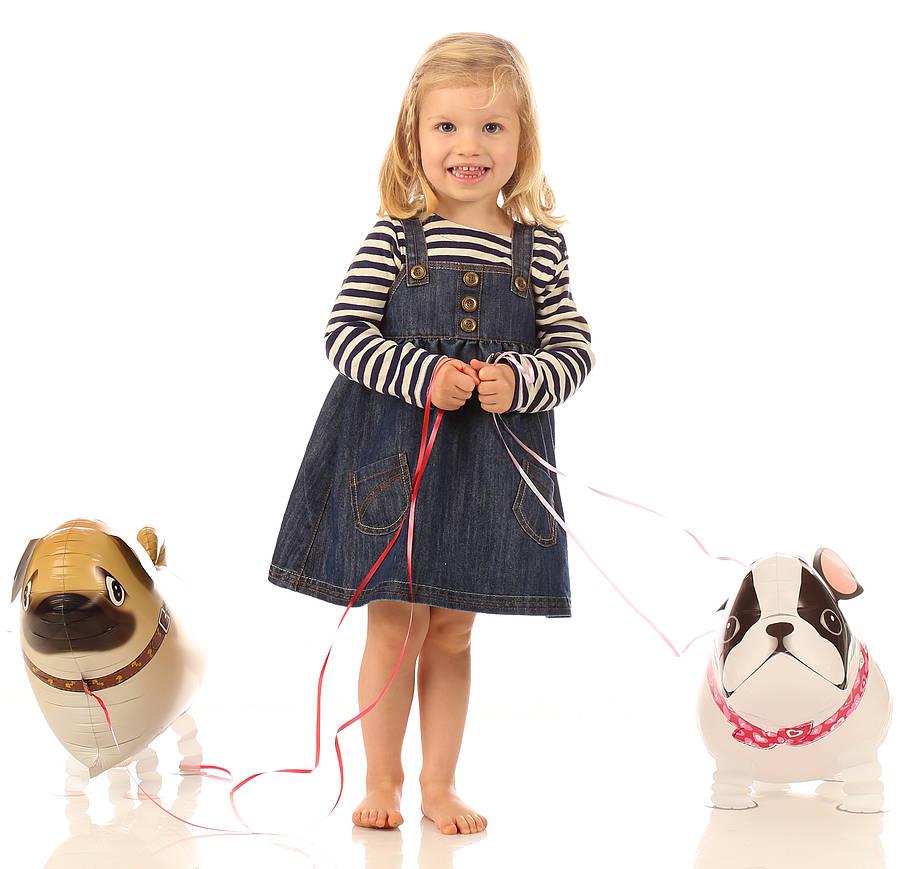 Pug Dog Walking Balloons - น้องหมาปั๊กบอลลูน / Item No. TL-K021