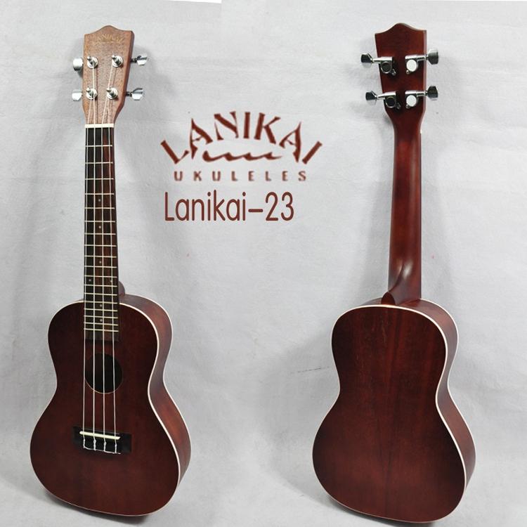 """อูคูเลเล่ Ukulele LANIKAI LU-21C (Germany) Concert 23"""" Mahogany สาย Aquila แถมกระเป๋า"""