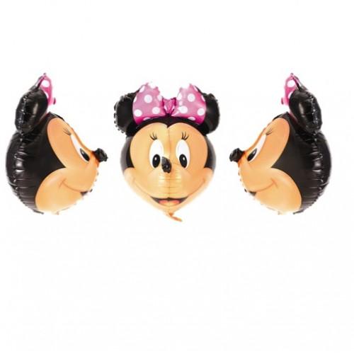 Minnie Mouse 3D Shape Foil Balloon - บอลลูนหน้ามินนี่เมาส์ 3D