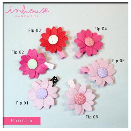 กิ๊บติดผมเด็ก Hair Clip : Pink Flower