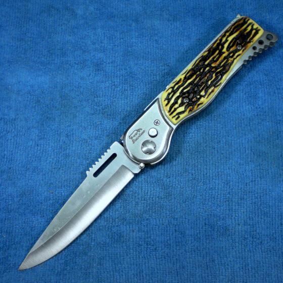 มีดพก มีดสปริง ขนาดใหญ่ 5.5 นิ้ว มีไฟแช็ค ไฟฉาย ด้ามงา