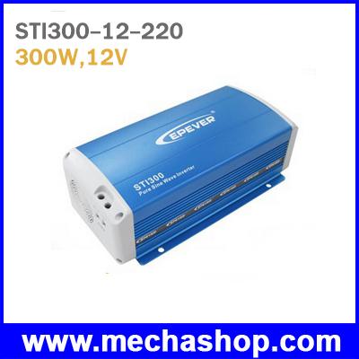 SIN015: อินเวอร์เตอร์ โซล่าเซลล์ ขนาด 300Watt Pure Sine Wave inverter STI300, 12V