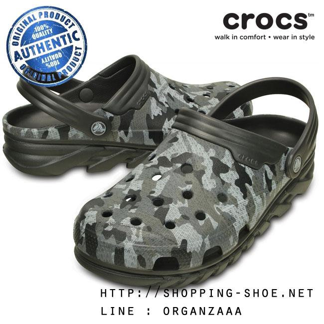 M7/W9 (26 cm.) : Crocs Duet Max Camo Clog - Graphite ของแท้ Outlet ไทยและอเมริกา