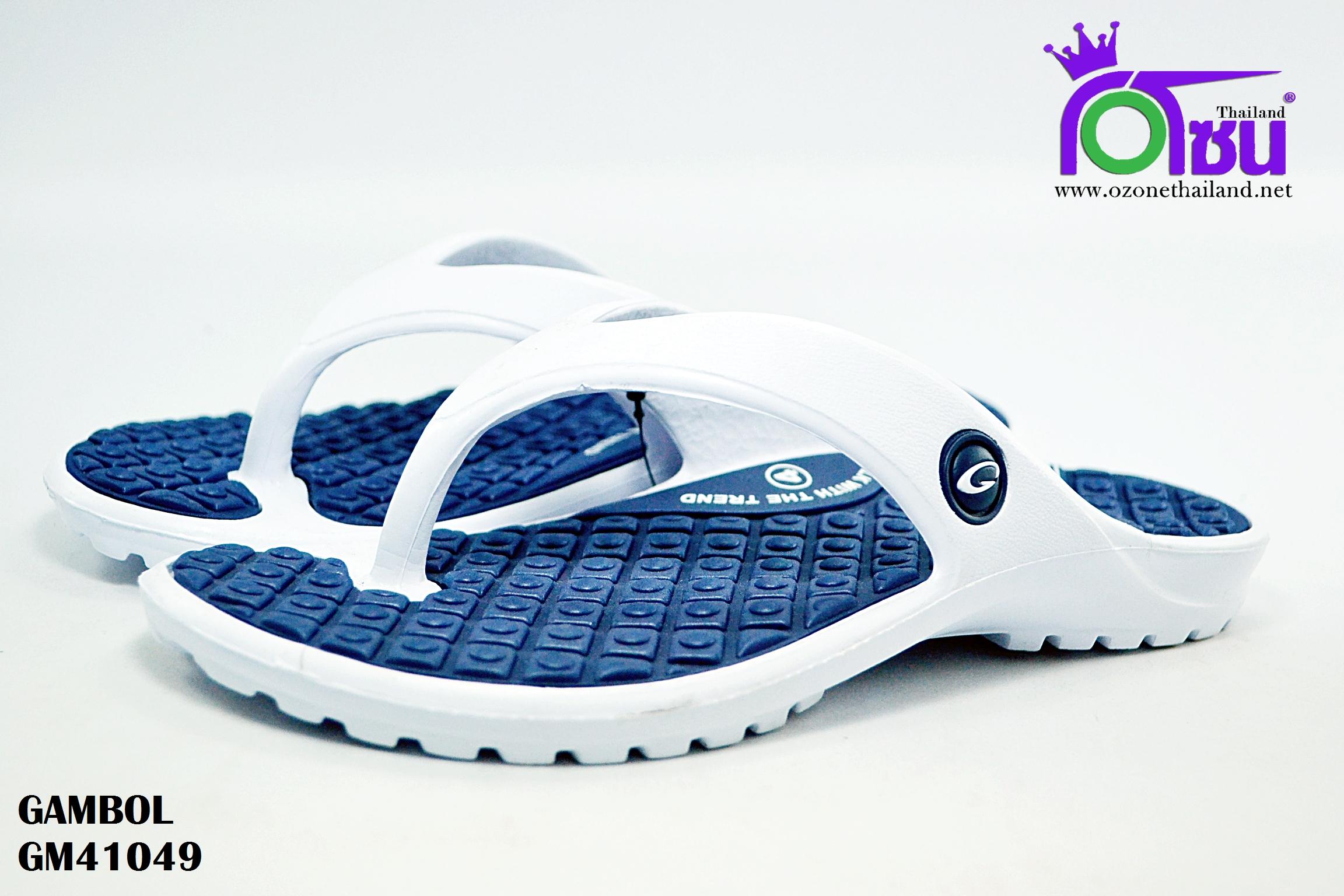 รองเท้าแตะ GAMBOL แกมโบล รุ่น GM 41049 สีกรม เบอร์ 4-9