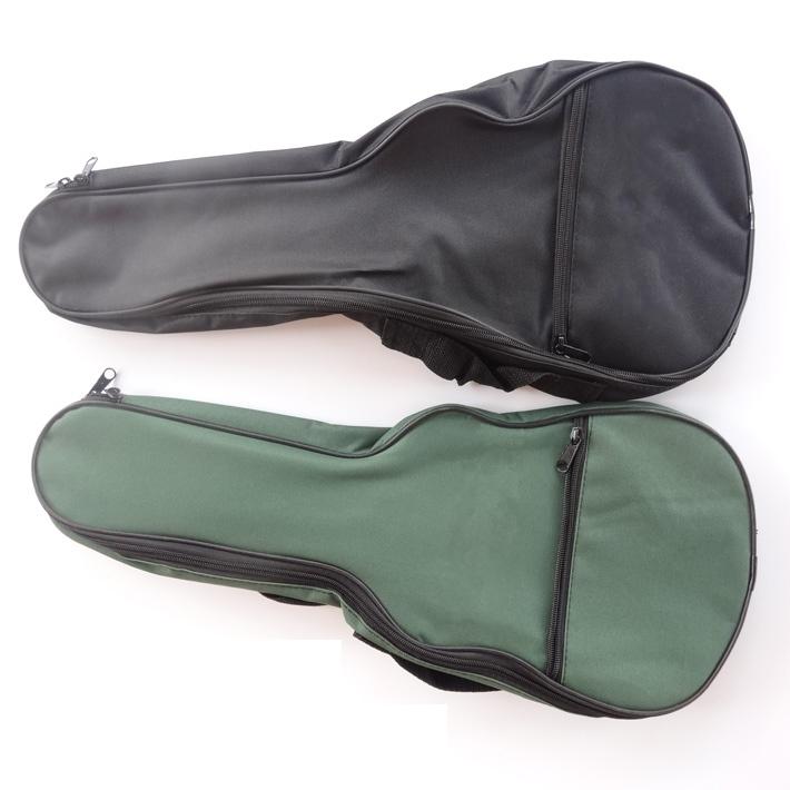 กระเป๋า Ukulele Bag Soft Case ไม่บุฟองน้ำ ขนาด Soprano Concert สีเขียว และสีดำ