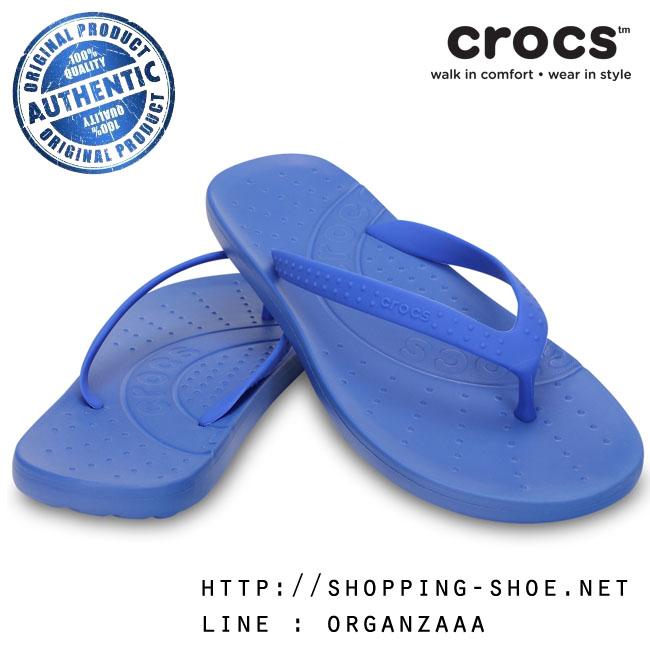M5/W7 (24.5 cm.) : Crocs Chawaii Flip - Varsity Blue ของแท้ Outlet ไทยและอเมริกา