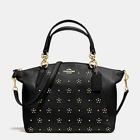 ALL OVER STUD SMALL KELSEY SATCHEL IN CALF LEATHER F36670