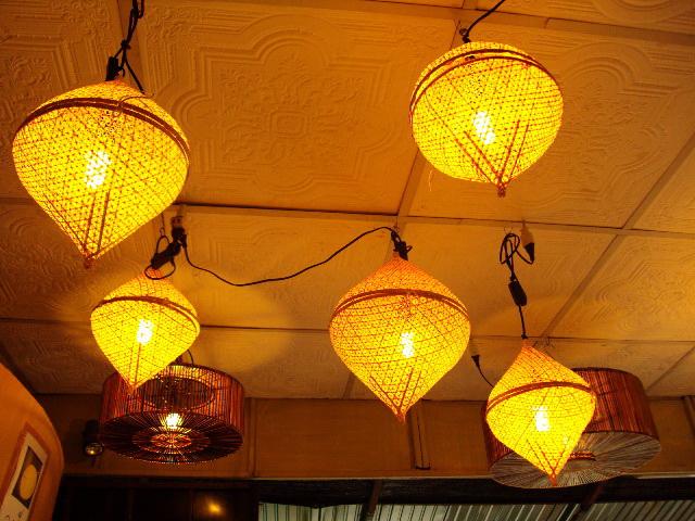 โคมไฟไม้ไผ่แขวนเพดาน Bamboo Ceiling Lamp (BCL002)