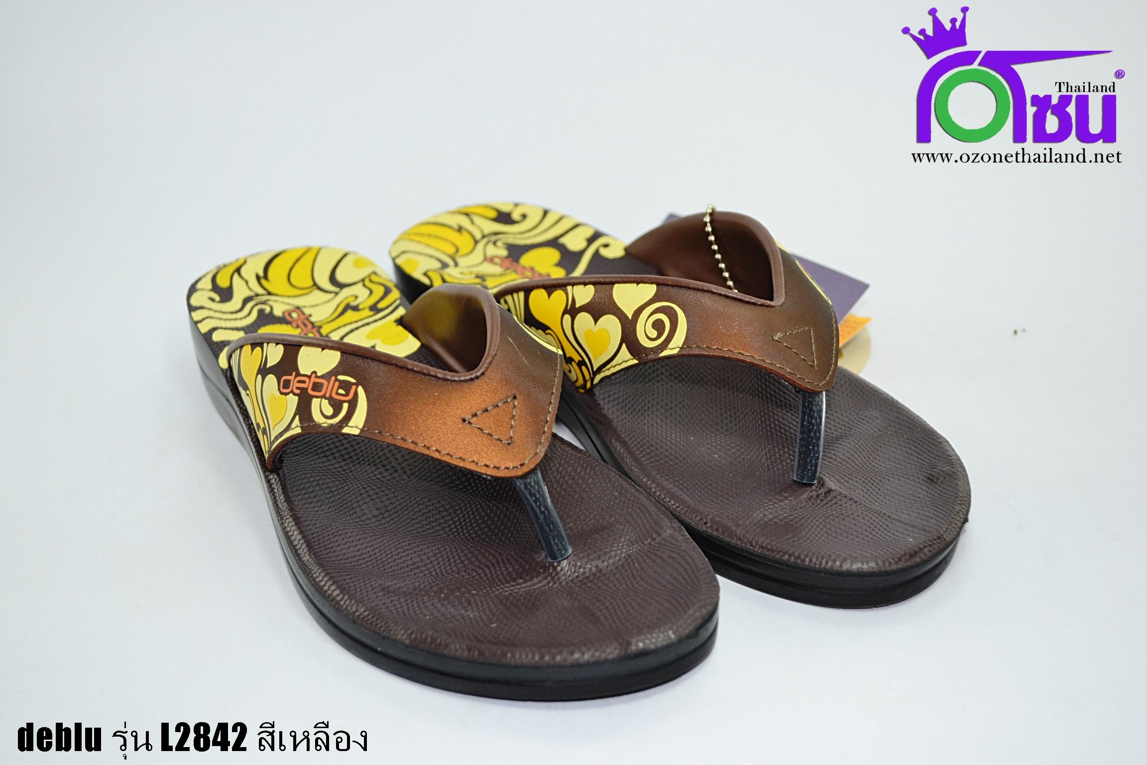 รองเท้าเดอบลู deblu รุ่นL2842 สีเหลือง เบอร์36-41
