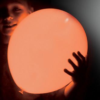 ลูกโป่ง LED สีส้ม แพ็ค 5 ชิ้น ไฟสว่างเหมือนโคมไฟ (LED Orange Balloon - LED Fixed Mode)