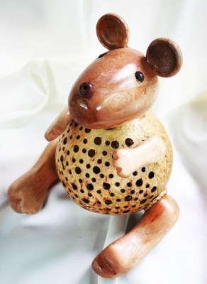 Coconut Shell Crafts Rat, Mouse โคมไฟและออมสินกะลามะพร้าวรูปหนู