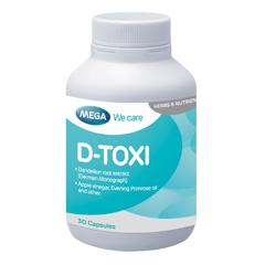 Mega We Care D-Toxi 30 Capsules เมก้า วีแคร์ ดี-ท็อคซี่ 30 แคปซูล