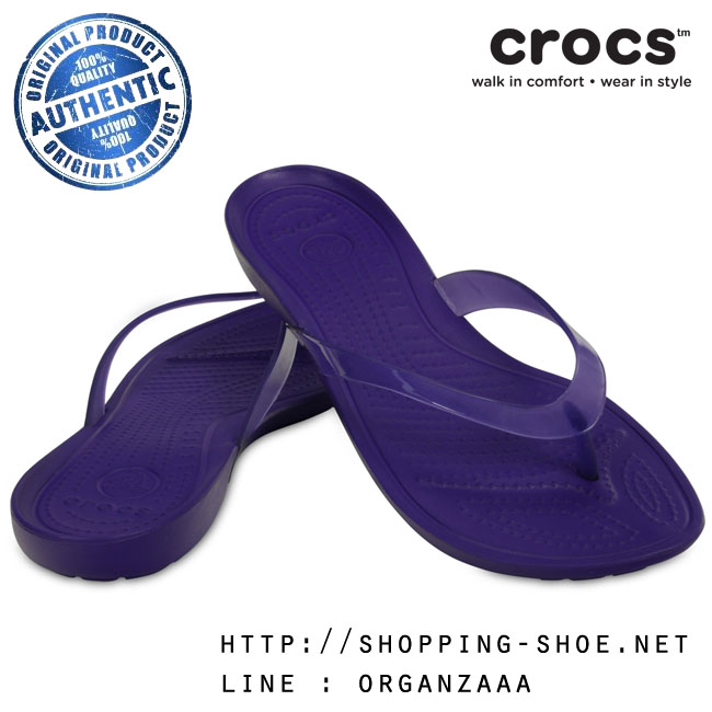 W7 (24.5 cm.) : Crocs Really Sexi Flip - Ultraviolet ของแท้ Outlet ไทยและอเมริกา