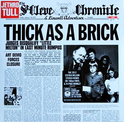 Jethro Tull - Thick As A Brick 1Lp N.