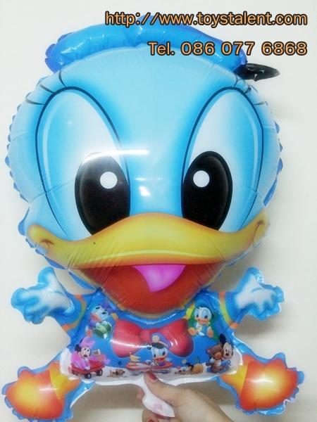 บอลลูนลายการ์ตูนโดนัลดักสีฟ้า (แพ็ค10ใบ)/ Item No. TL-A013