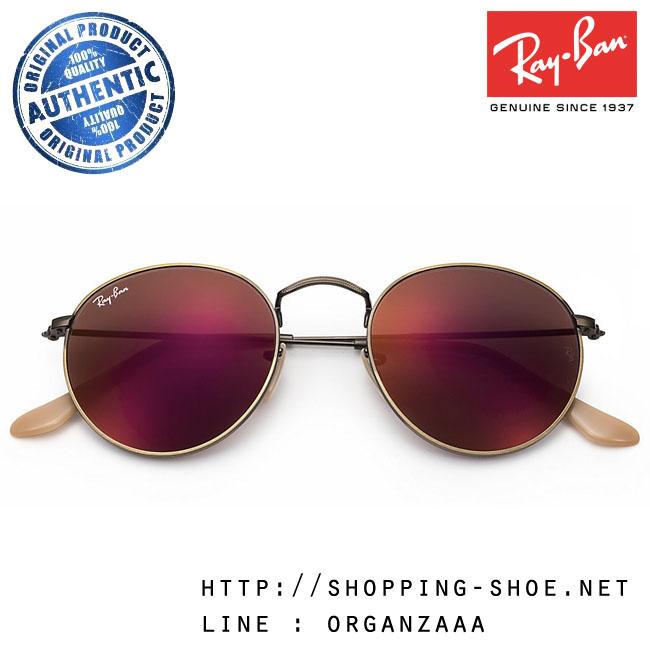 RayBan - RB3447 167/2K Round Metal Red Flash Lens, 50 mm.