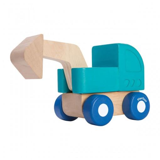 ของเล่นไม้ ของเล่นเด็ก ของเล่นเสริมพัฒนาการ Mini Excavator (ส่งฟรี)