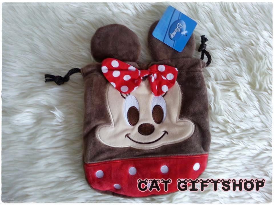 พร้อมส่ง :: กระเป๋าหูรูด Minney Mouse 18x18 cm