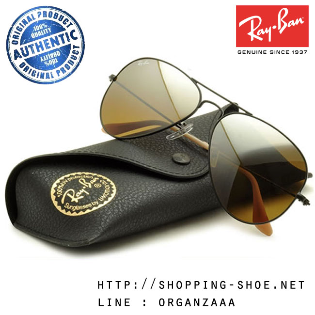 RayBan - RB3025 006/3K Aviator Brown Silver Mirror Gradient Lens, 58 mm. (เลนส์ปรอทน้ำตาลไล่สี)