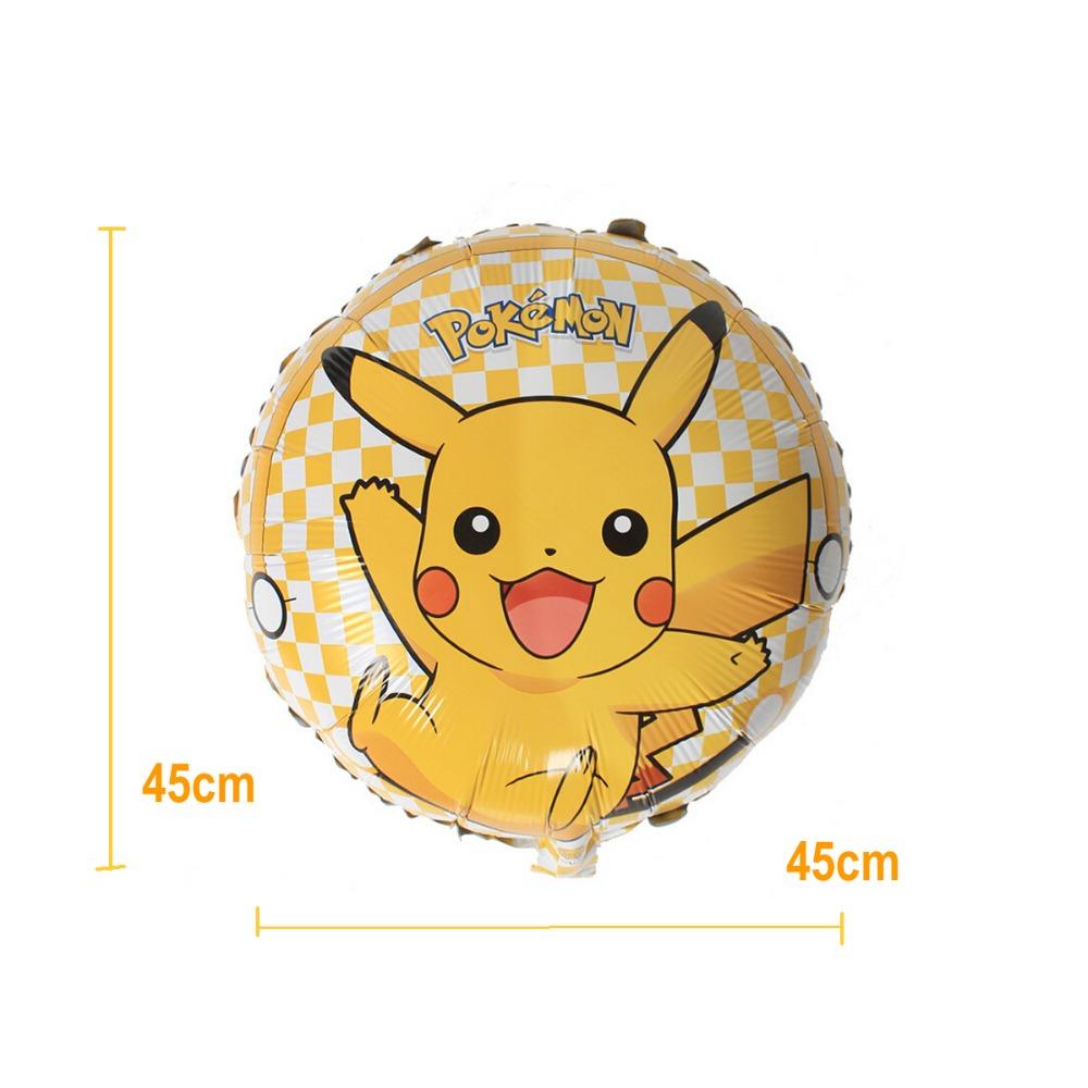 """ลูกโป่งกลมโปเกมอน ไซส์18"""" - Pokemon Round shape Foil Balloon / Item No. TL-A144"""
