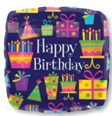 ลูกโป่งฟลอย์นำเข้า Happy Birthday Party Time / Item No. AG-28005 แบรนด์ Anagram ของแท้