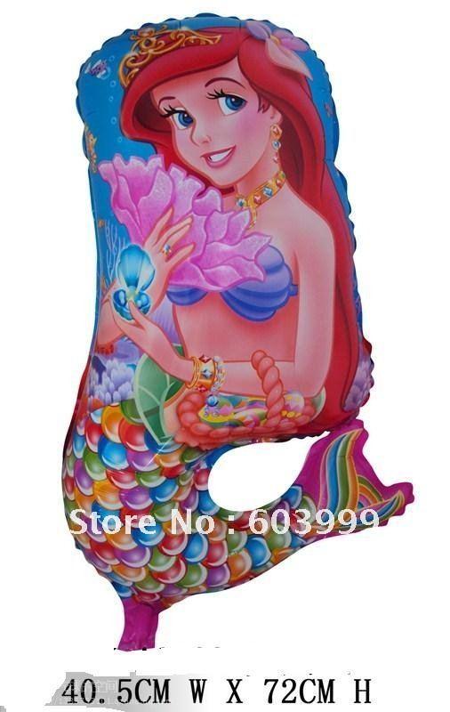 Little Mermaid Foil Balloon - ลูกโป่งฟลอย์ ตัวการ์ตูน Little Mermaid เจ้าหญิงนางเงือก / Item no. TL-A017
