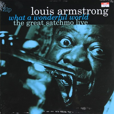 LOUIS ARMSTRONG - WHAT A WONDERFUL WORLD THE GREST SATCHMO LIVE 2LP N.