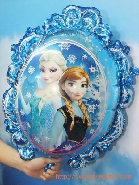 ลูกโป่งฟลอย์การ์ตูน เจ้าหญิงโฟรสเซนต์ เอลซ่า แอนนา ล้อมกรอบ - Frozen Princess Foil Balloon / Item No. TL-A116