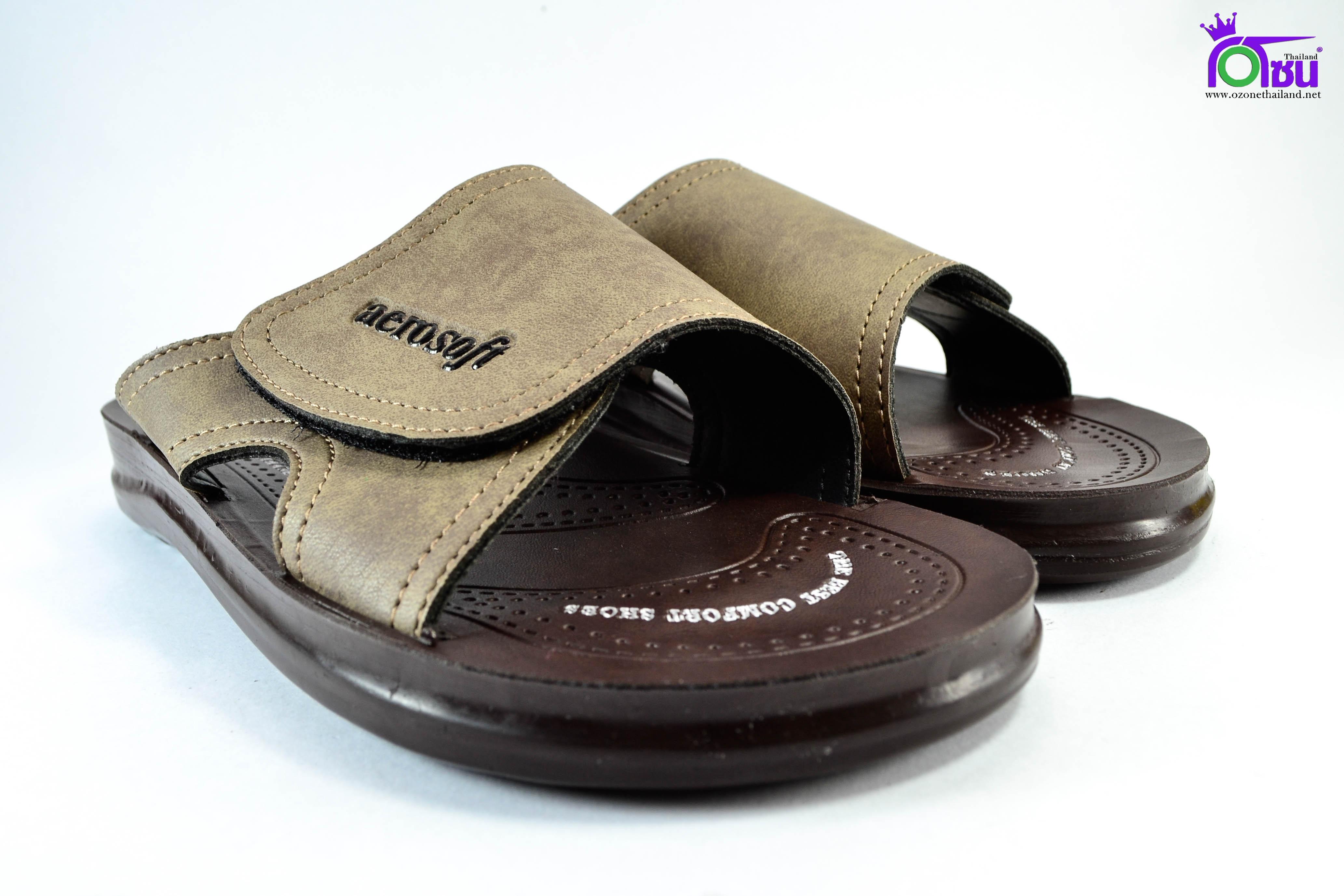รองเท้าหนัง Aerosoft 4159 น้ำตาล
