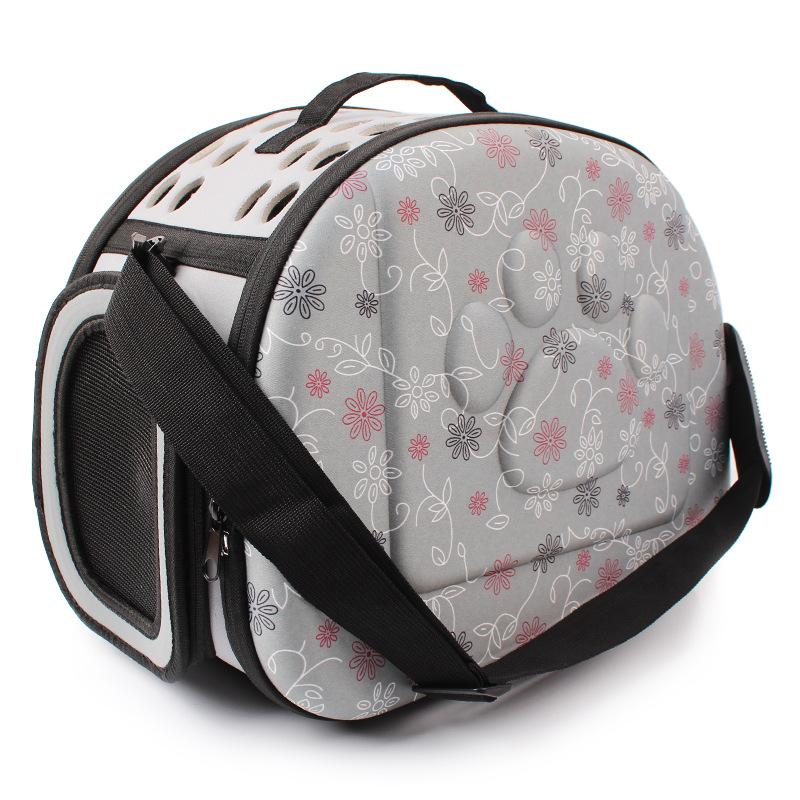 กระเป๋าน้องหมาน่ารักๆลายเท้าหมาเทาไซด์ M