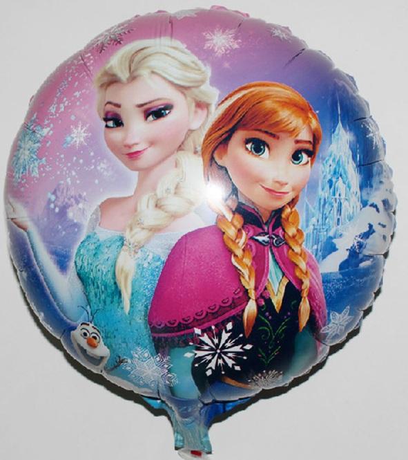 ลูกโป่งฟลอย์การ์ตูน เจ้าหญิงโฟรสเซนต์ทรงกลม - Round shape Frozen Princess Foil Balloon / Item No. TL-A097