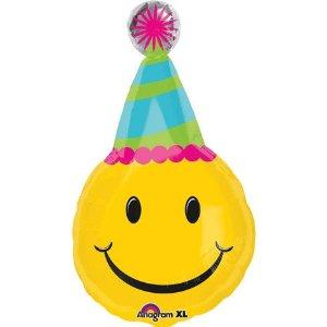 ลูกโป่งฟลอย์นำเข้า Smiley Birthday / Item No. AG-26786 แบรนด์ Anagram ของแท้