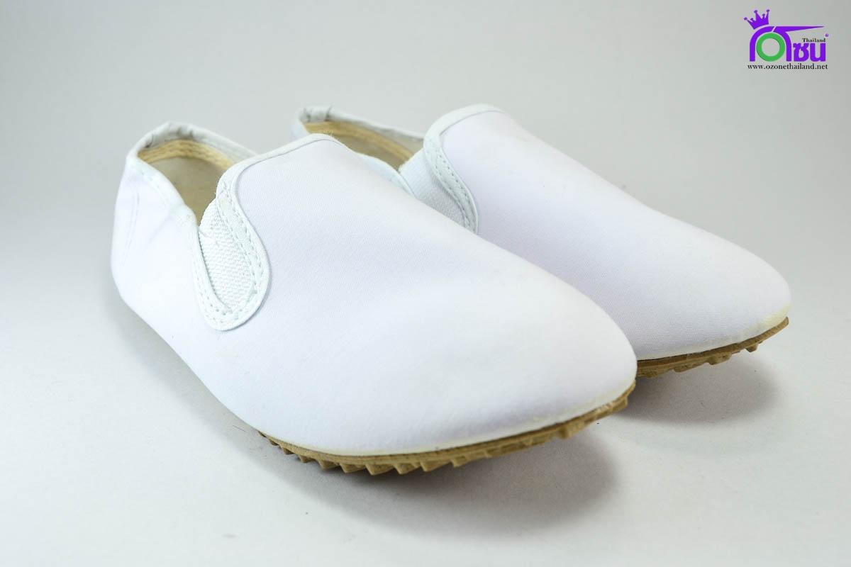 รองเท้าผ้าใบ กังฟู Kungfu สีขาว เบอร์ 36-45