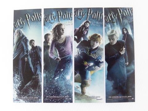 พรีเมี่ยมเซ็ทที่คั่นหนังสือแฮร์รี่ พอตเตอร์ ภาค 6 (4 แผ่น)