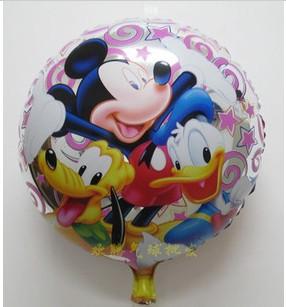 Disney Round Balloon Shape Balloon - ลายการ์ตูนดิสนีย์ ทรงกลม / Item No.TL-A067
