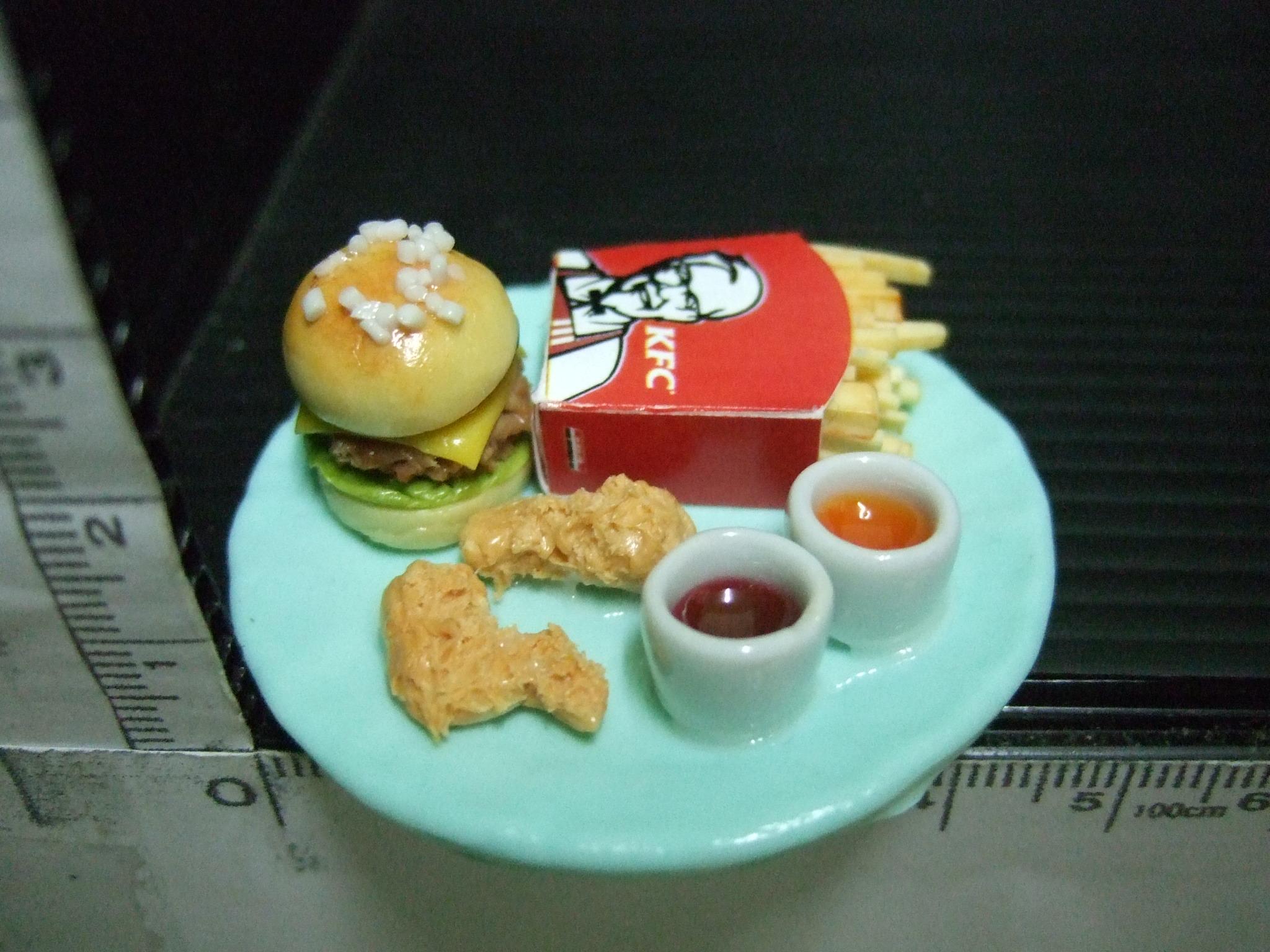 อาหารจิ๋วชุดfastfood