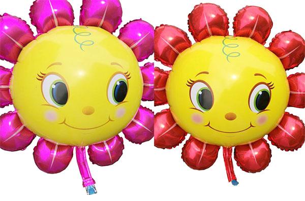 ลูกโป่งฟลอย์ ดอกไม้ตาโต ไซส์ใหญ่ มีสีชมพูและสีแดง กรุณาระบุ- Sunflower Big Eyes Jumbo size Foil Balloon/ Item No.TL-A095