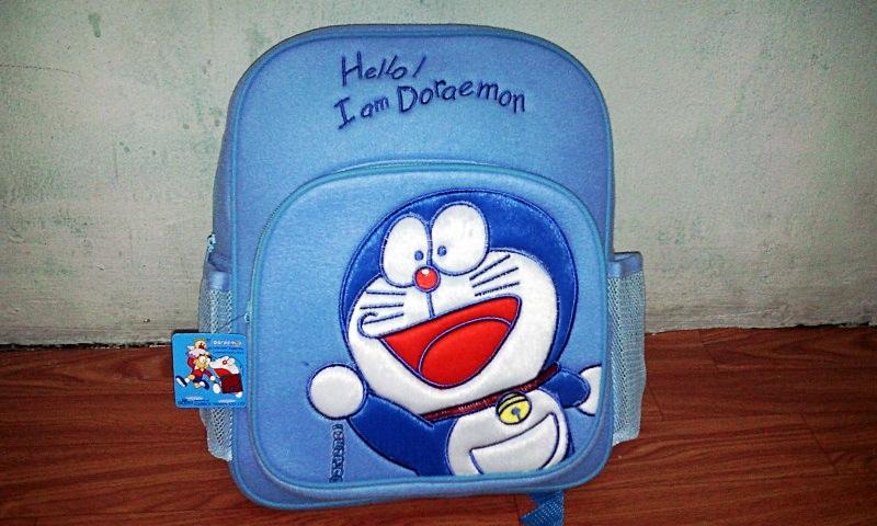 กระเป๋าเป้ โดเรมอน สีฟ้า สินค้ามาใหม่ สำหรับคุณหนู