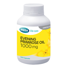 Mega We Care Evening Primrose Oil 100'S