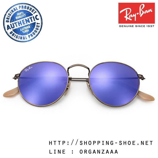 RayBan - RB3447 167/1M Round Metal Violet Flash Lens, 50 mm.